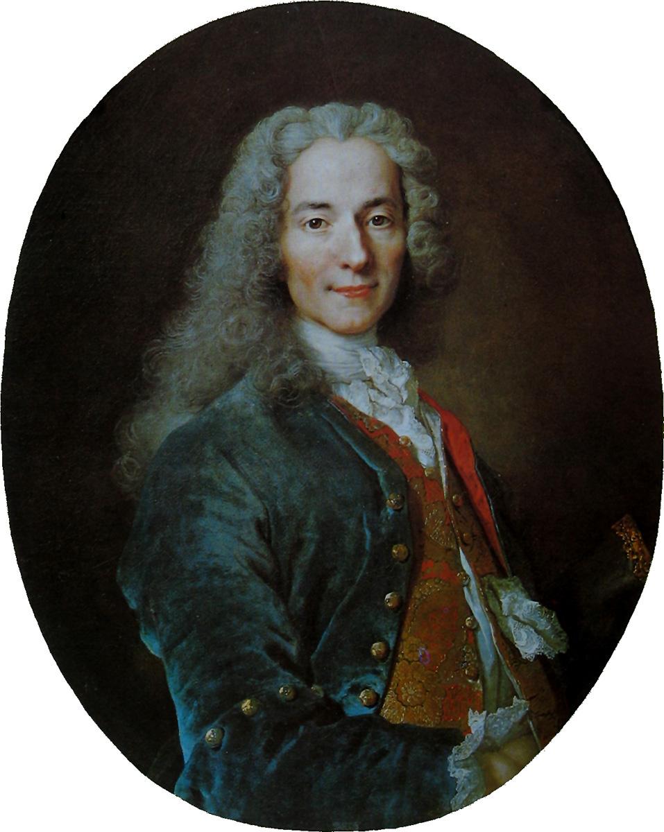 Nicolas de Largillière. François-Marie Arouet, conocido como Voltaire. 1724-1725. Palacio de Versalles.