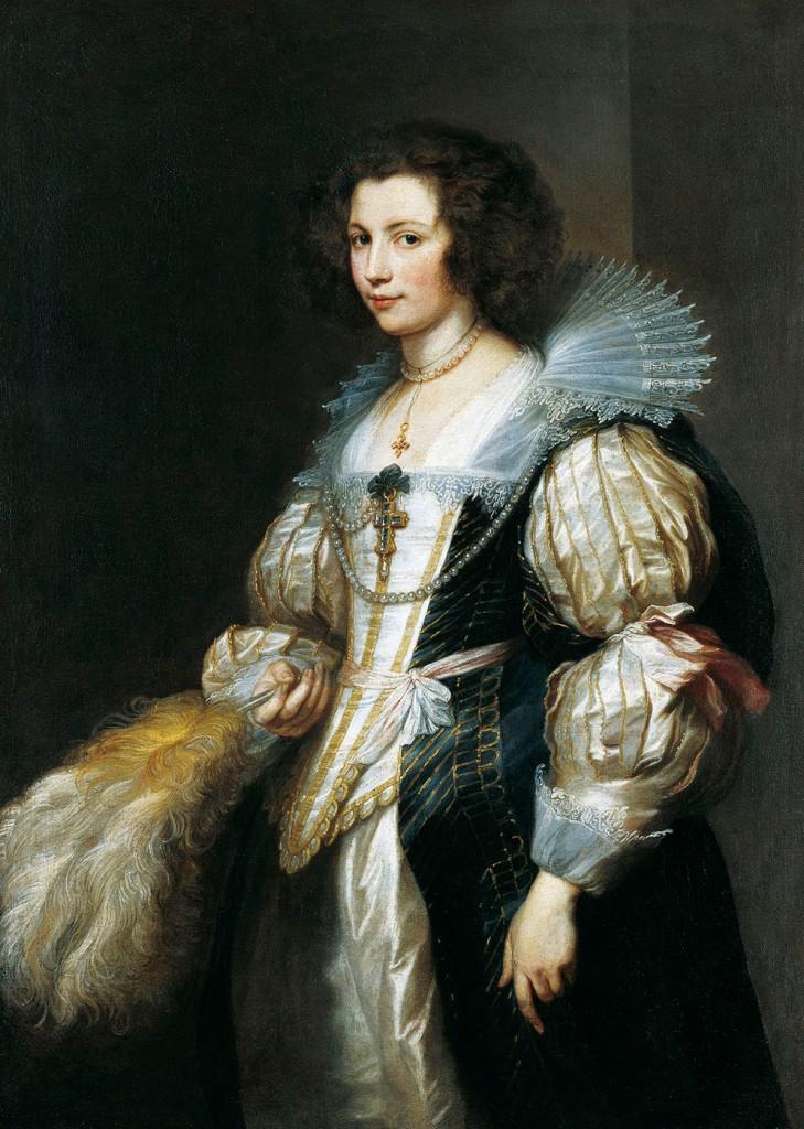 Anthony van Dyck. Retrato de Maria Luisa de Tassis. Hacia 1630. Fürstlich Liechtensteinische Gemäldegalerie. Liechtenstein.