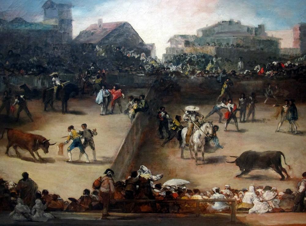 Corrida de toros en una plaza partida.Corrida de toros en una plaza partida. Hacia 1816. Metropolitan Museum. Nueva York.