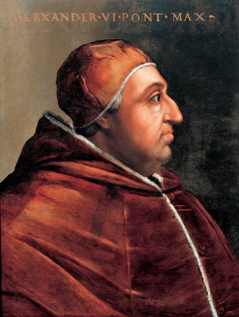 Cristofano dell'Altissimo. Alejandro VI. Corredor Vasariano. Florencia.
