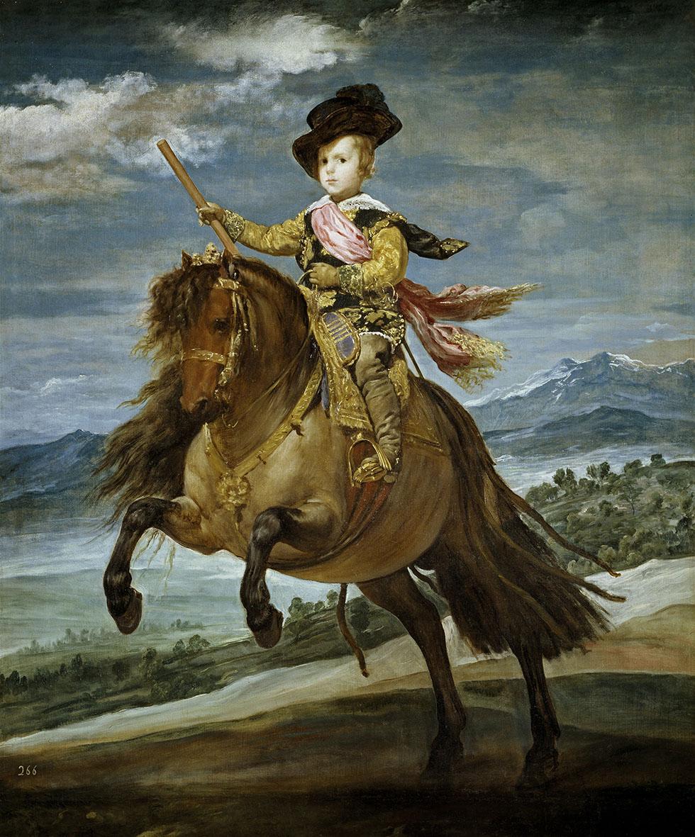 Diego Velázquez. Retrato ecuestre del principe Baltasar Carlos de Austria. Museo Nacional del Prado. Madrid.