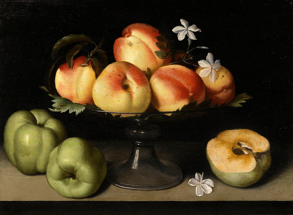 Fede_Galizia_-_A_Crystal_Fruit_Stand_with_Peaches,_Quinces,_and_Jasmine_Flowers_004L15033_6Z37X