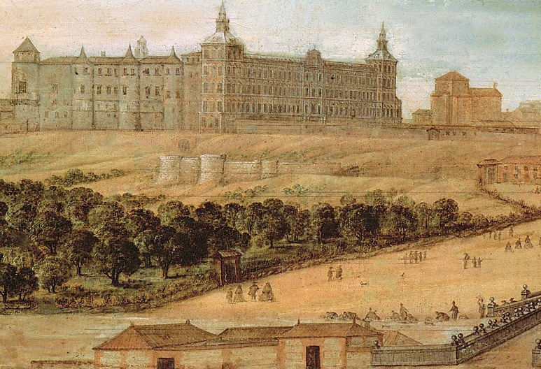 Felix Castello. Vista del Alcázar de Madrid. 1630-1640. Museo de Historia de Madrid.