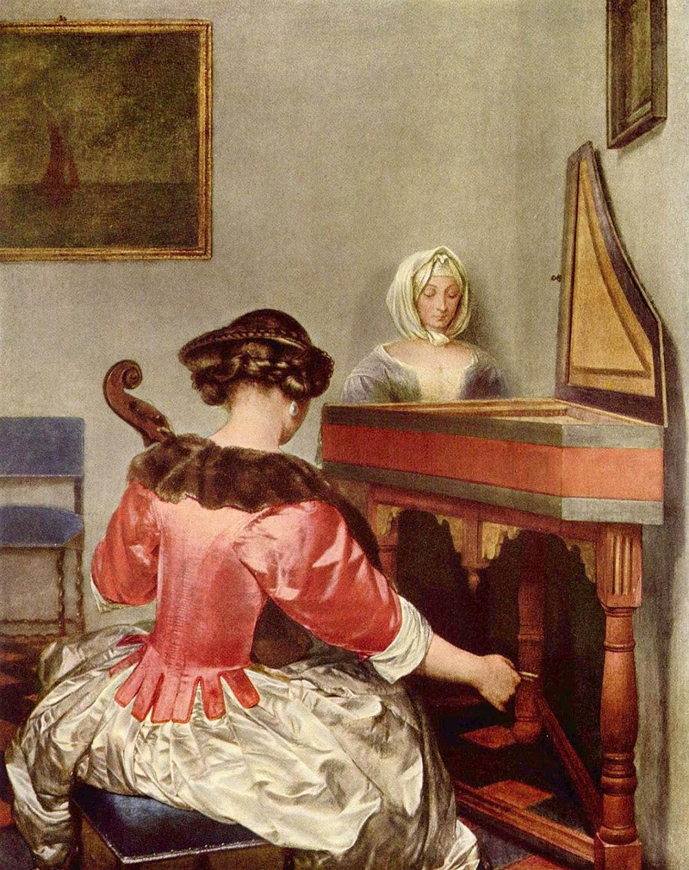 Gerard ter Borch. El Concierto. Hacia 1675. Gemäldegalerie. Berlín.