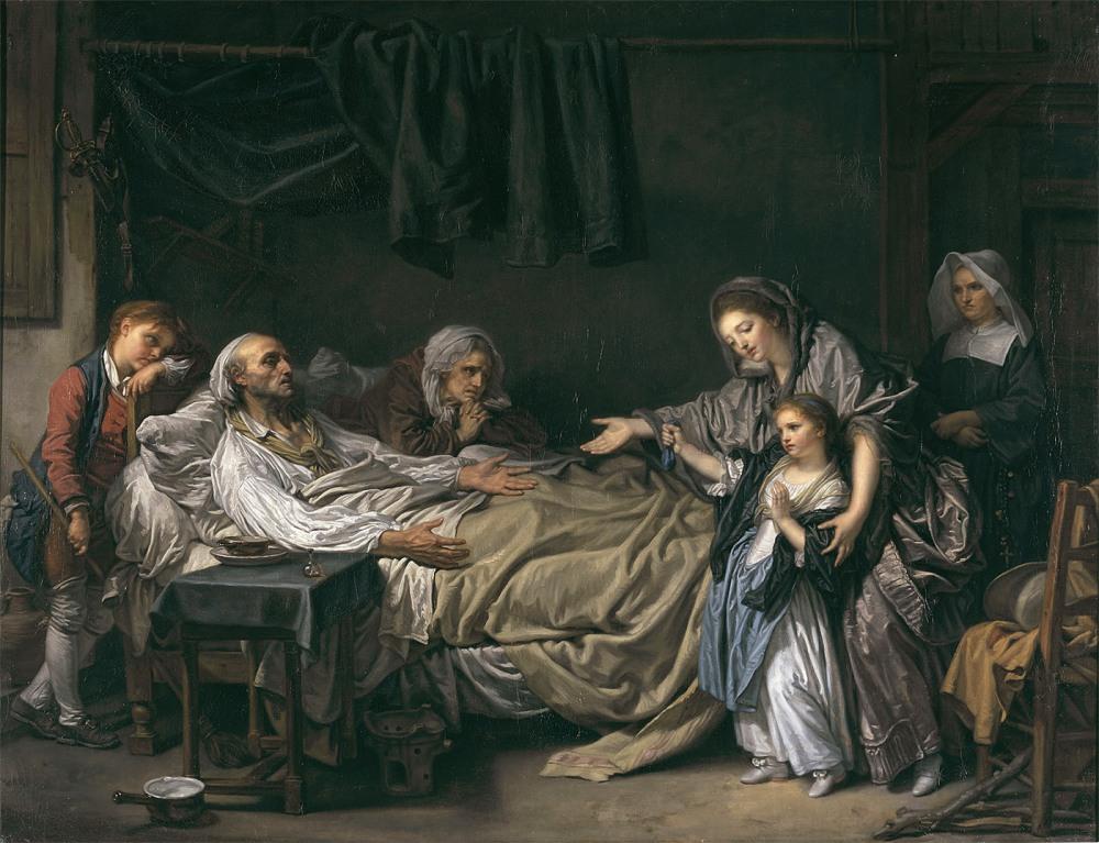 Jean Baptiste Greuze. La dama de la caridad. 1773. Museo de Bellas Artes. Lyon.