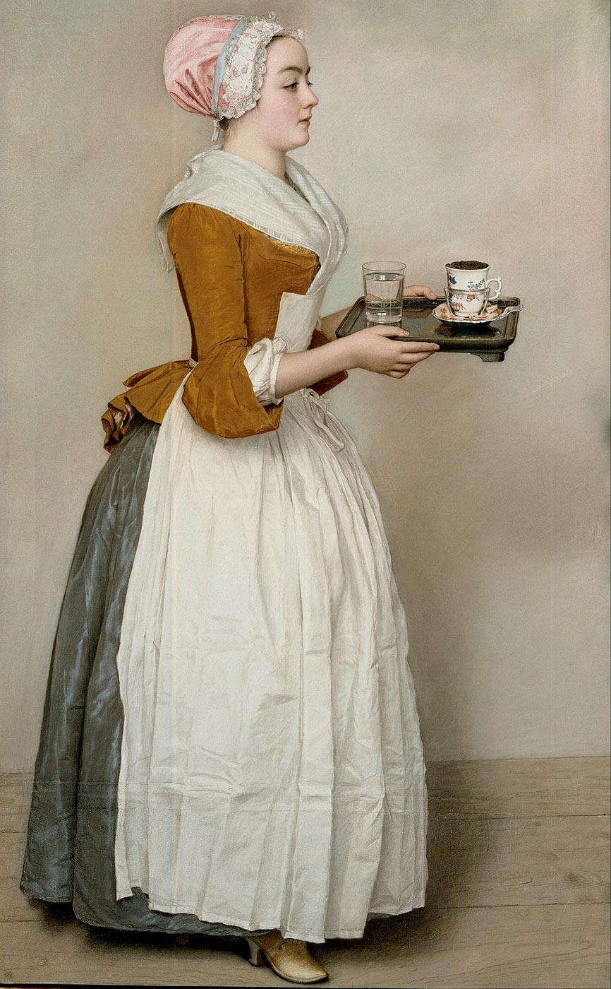 Jean Etienne Liotard. La chica del chocolate. 1744-1745. Gemäldegalerie. Berlín.
