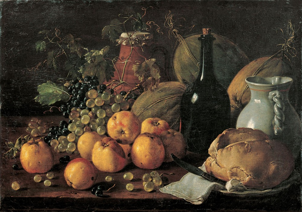 Luis_Meléndez_-_Still_Life_with_Apples,_Grapes,_Melons,_Bread,_Jug_and_Bottle_-_Google_Art_Project