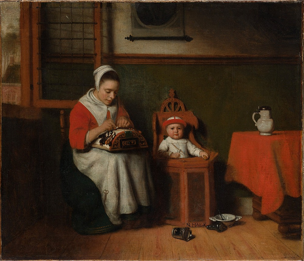 Nicolaes Maes. La encajera. Hacia 1656. Metropolitan Museum. Nueva York