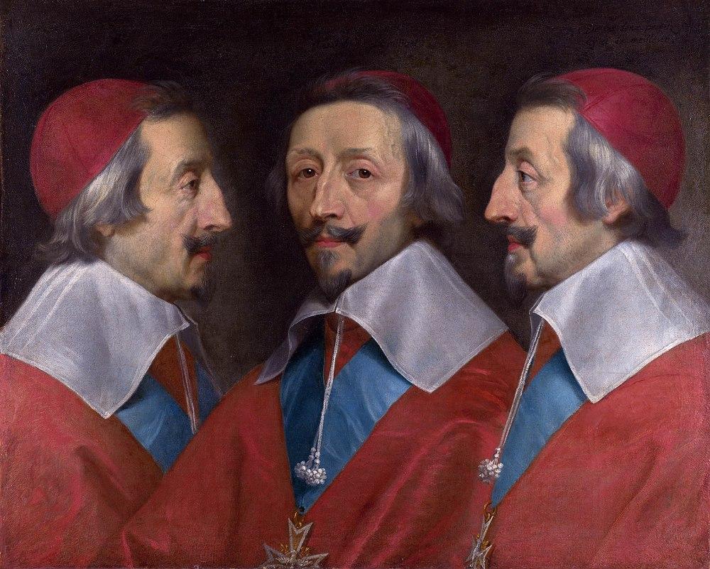 Philippe de Champaigne Retrato triple del Cardenal Richelieu. Hacia 1642. National Gallery. Londres.
