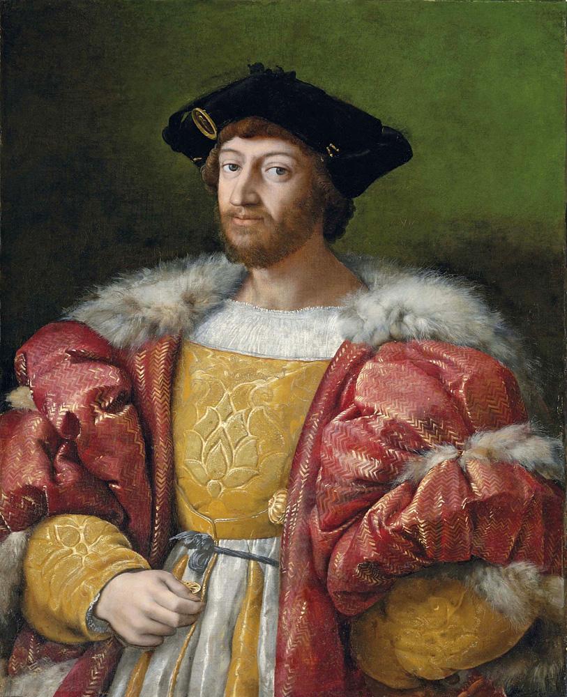 Rafael Sanzio. Retrato de Lorenzo de Medici, duque de Urbino. 1516-1519. Colección Particular.