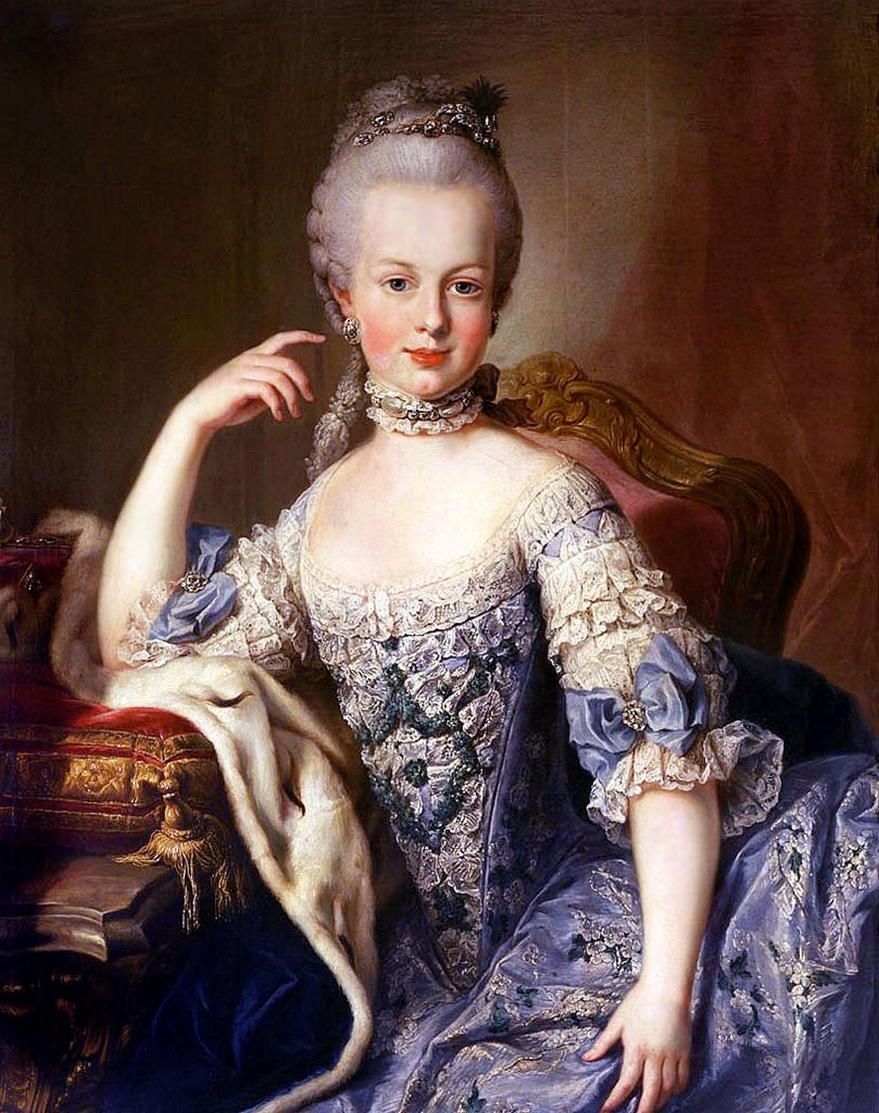 Atribuído a Martin van Meytens. María Antonieta. Hacia 1767-1768. Schömbrunn Palace. Viena.