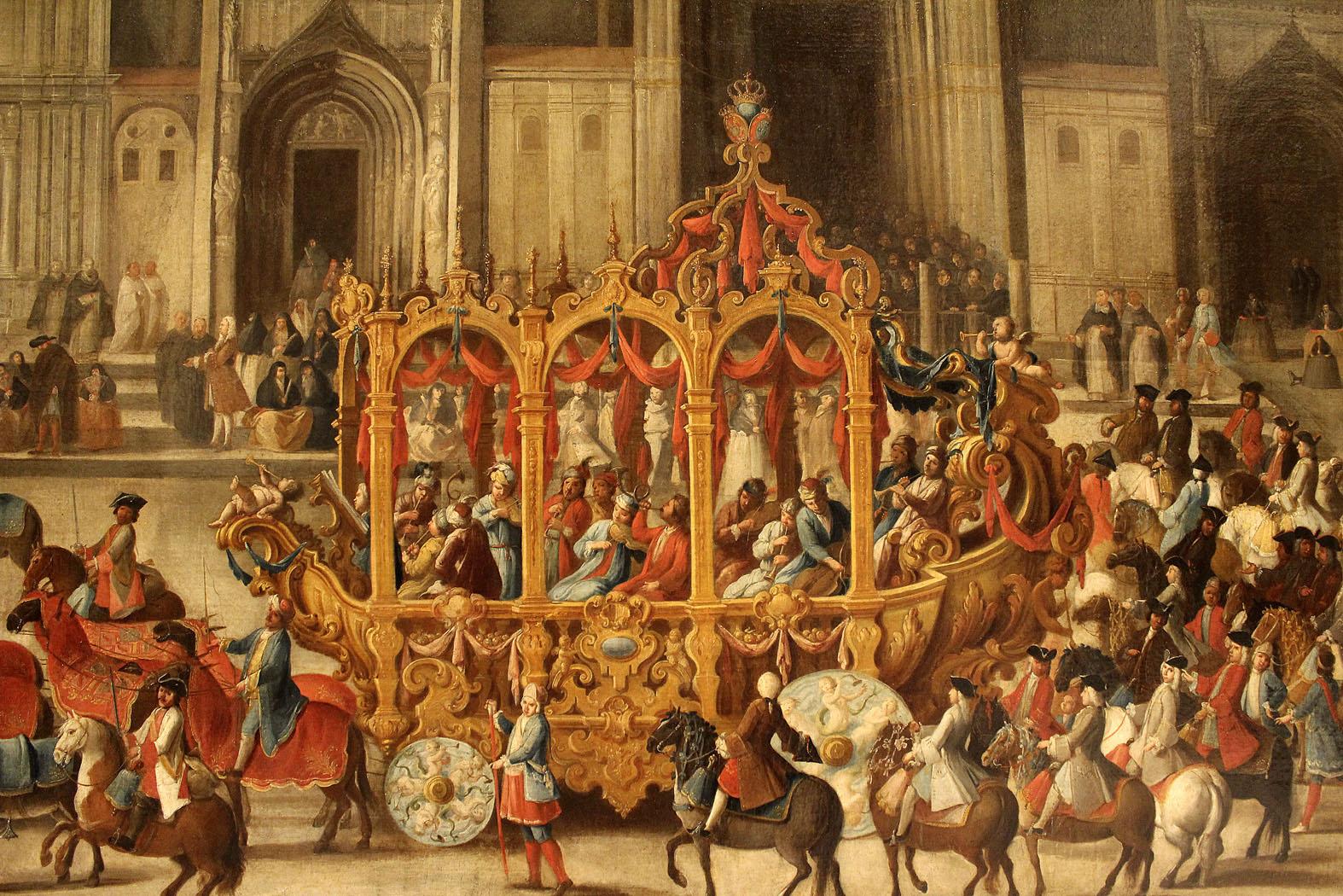 Domingo Martinez. Carro del Pregón de la Máscara. Hacia 1748. Museo Bellas Artes. Sevilla.