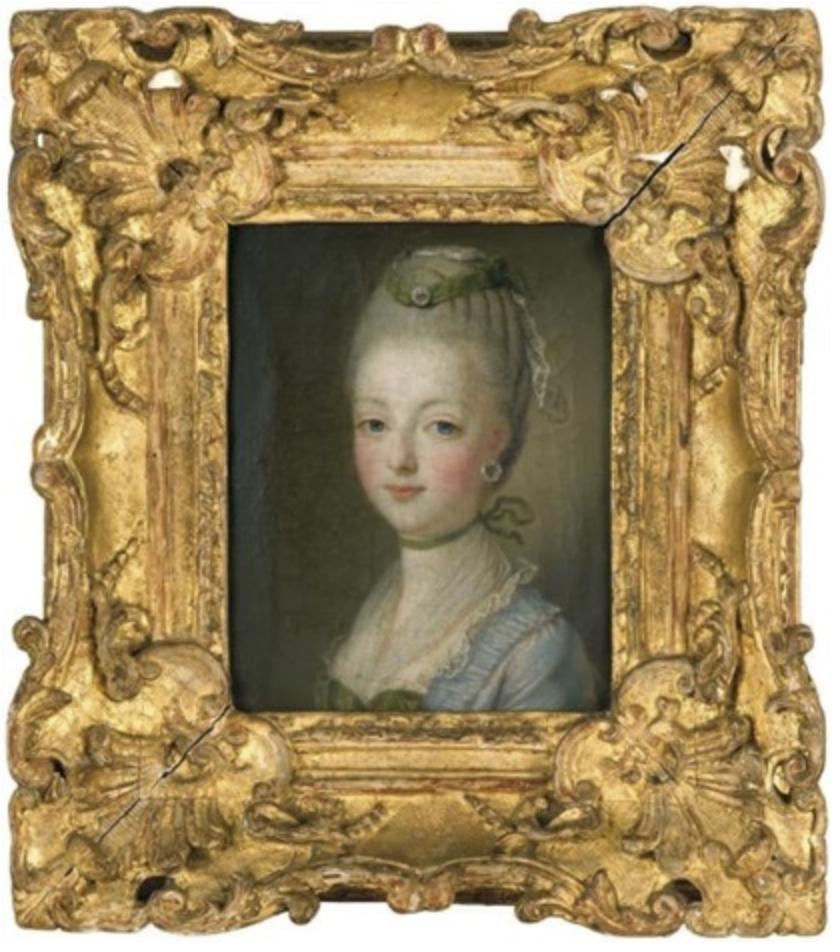 Circulo de François Hubert Drouais. Maria Antonieta. Hacia 1770. Colección Particular.