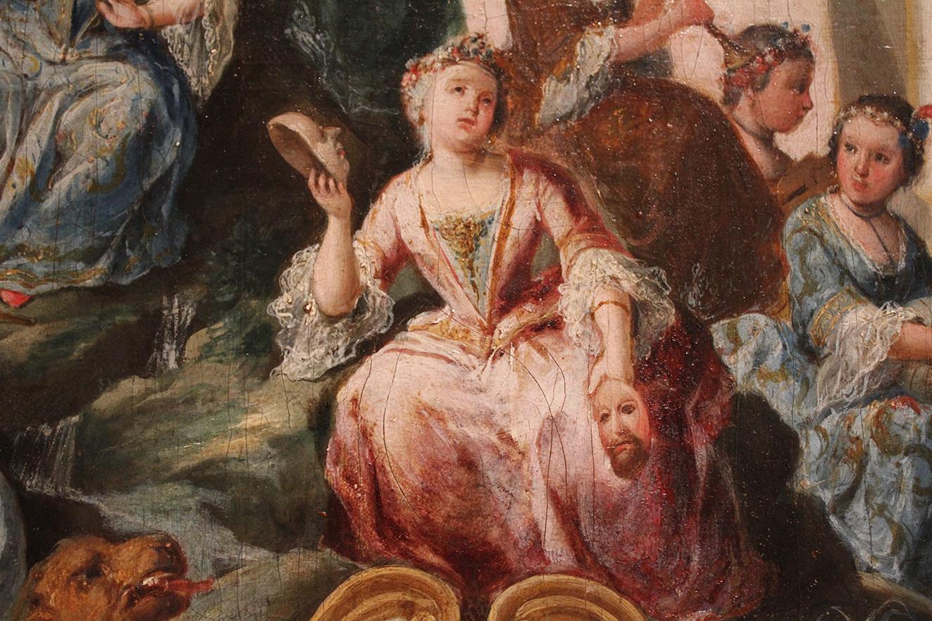 Domingo Martinez. Carro del Parnaso. Detalle. Hacia 1748. Museo de Bellas Artes. Sevilla.