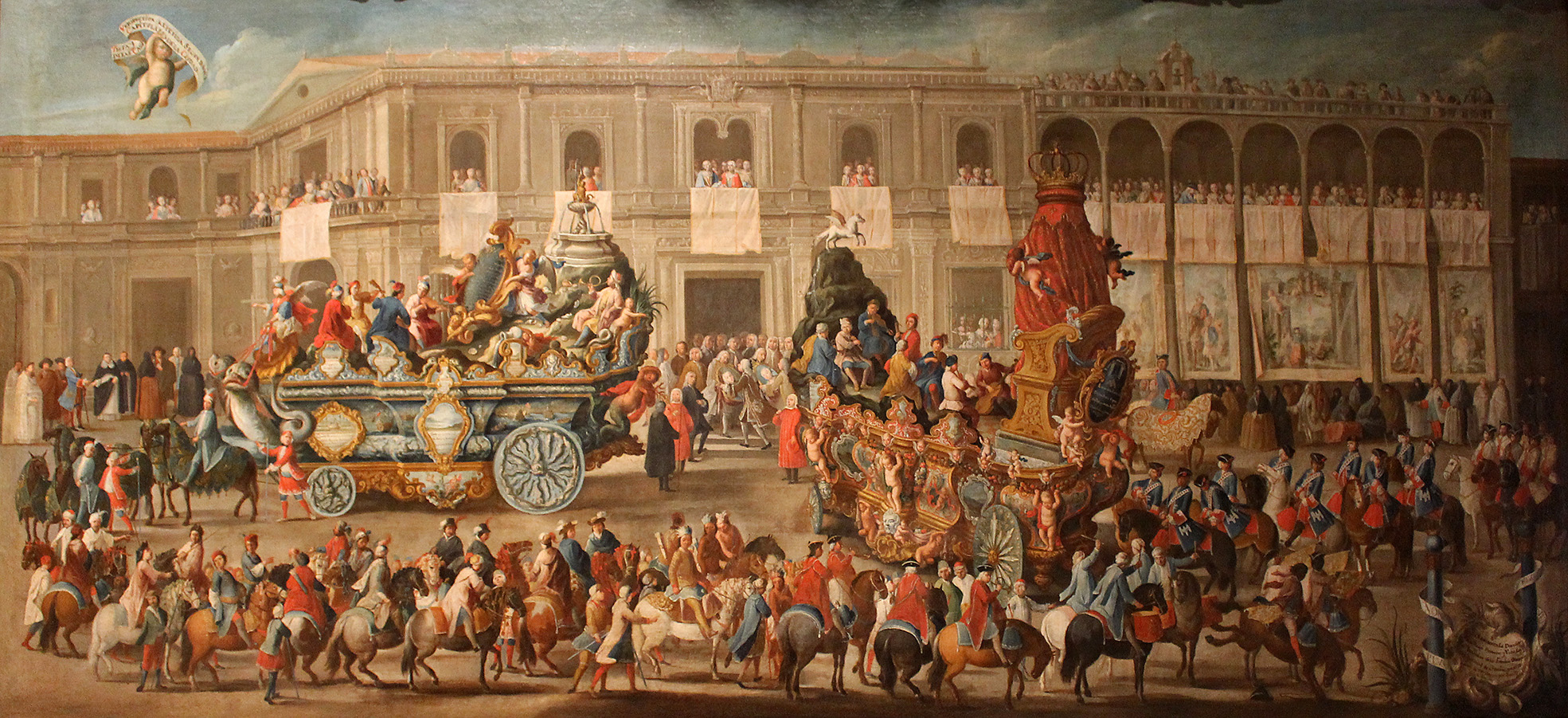Domingo Martínez. Carro de Victor y del Parnaso. Hacia 1748. Museo de Bellas Artes. Sevilla.