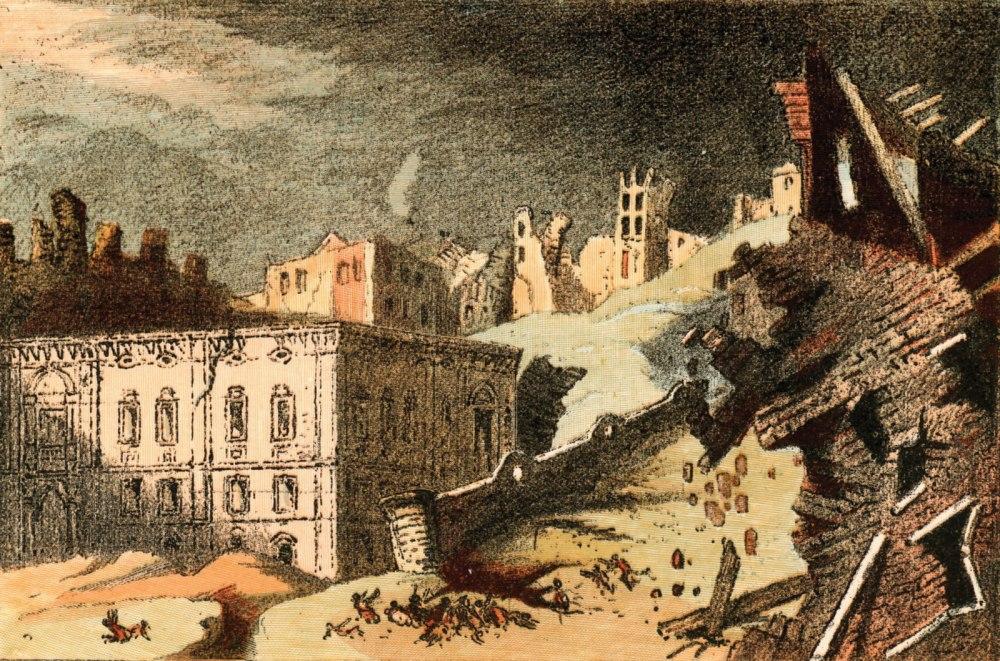 drawing-earthquake-Lisbon-Nov-1-1755