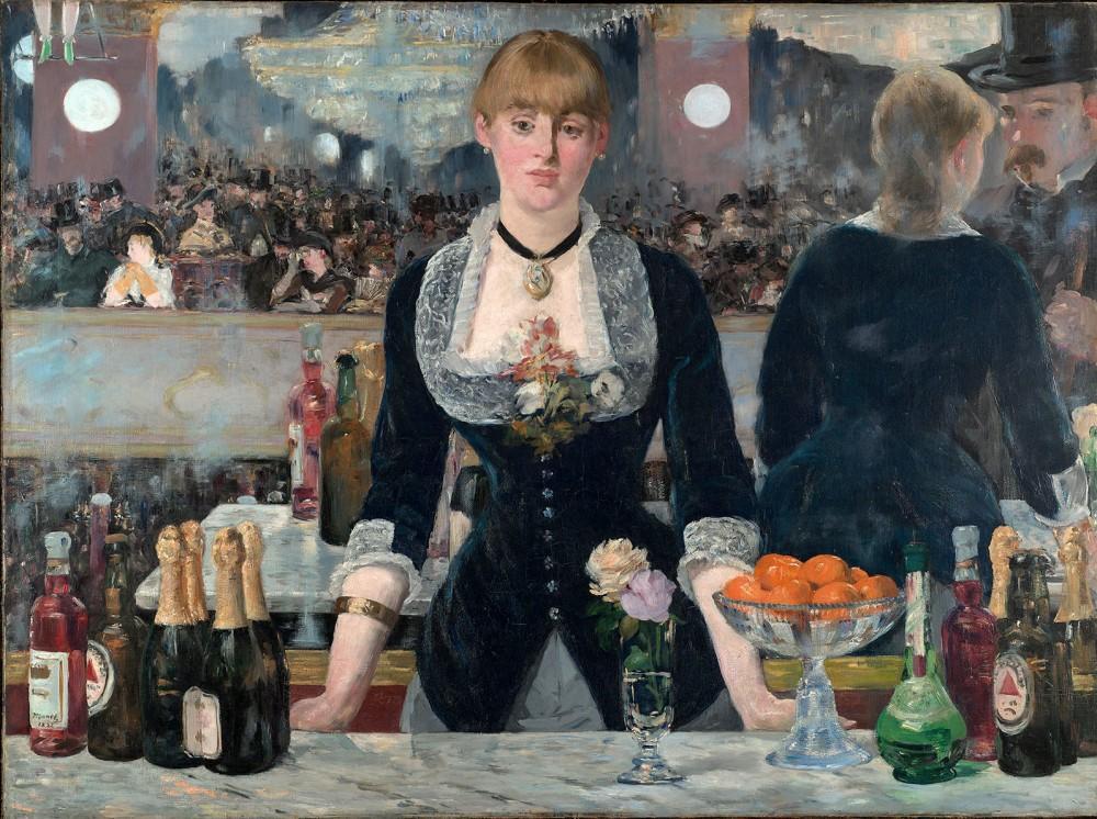 Édouard Manet. Un bar en el Folies- Bergére. 1881-1882. Courtauld Institute of Art. Londres