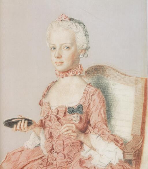 Jean-Étienne Liotard. La archiduquesa María Antonieta de Austria, futura reina de Francia a la edad de siete años. 1762. Museo de Arte e Historia. Ginebra.