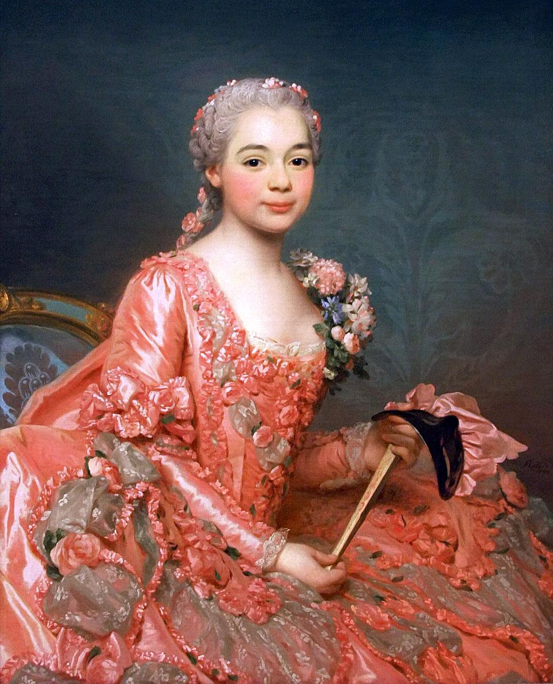 Alexander Roslin. Baronesa de Neoburbo-Cromière. 1756. Museo Nacional de Suecia. Estocolmo.