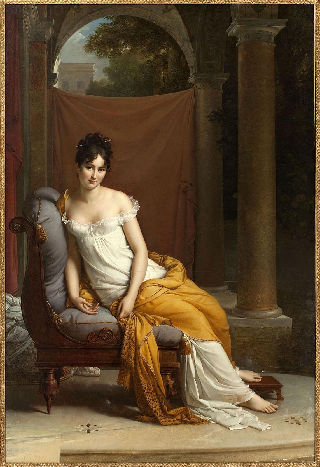 François Gérard. Juliette Récamier. 1802-1805. Museo Carnavalet. Paris.