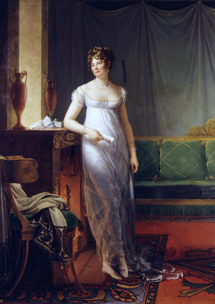 François Gérard. Retrato de  Catherine Worlée, Princesa de Talleyrand-Périgord. 1804-1805. Colección particular