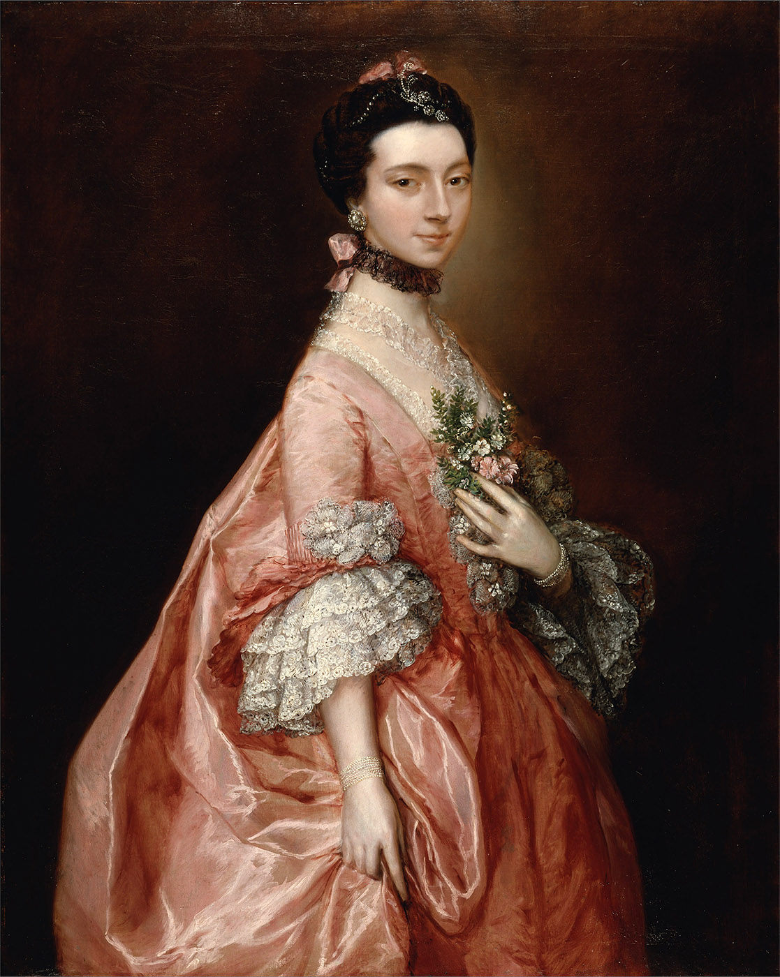 Thomas Gainsborough. Mary_Little. Hacia 1763. Yale Center for British Art. New Heaven. Connecticut.