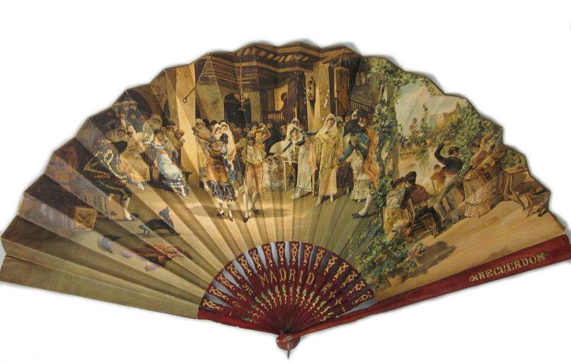 Abanico español. 1875-1899. Fidm Museum. Los Ángeles.