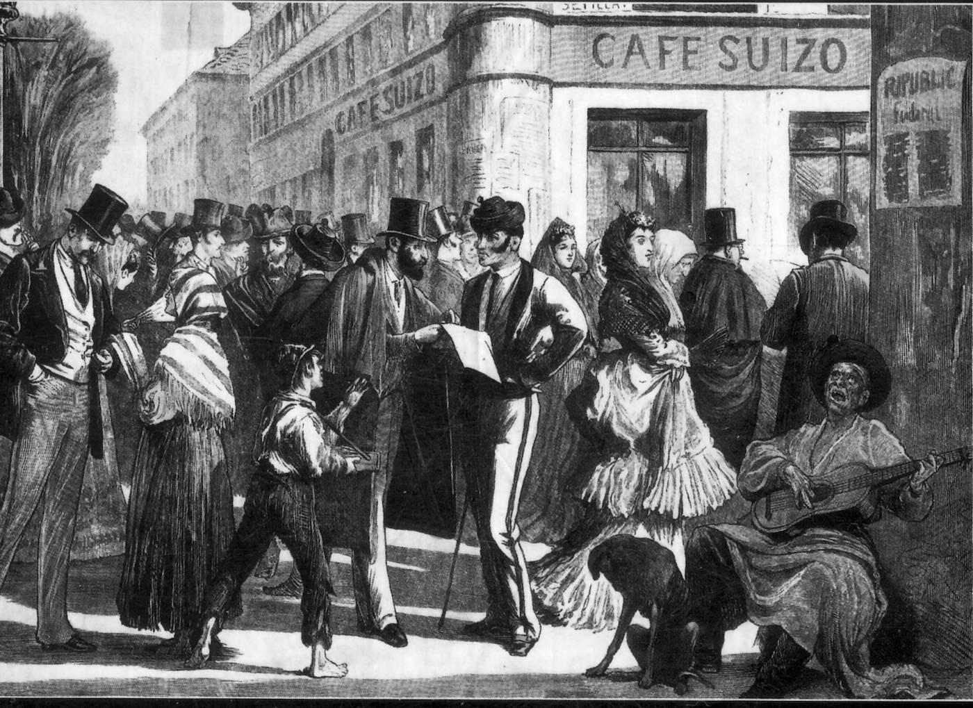 Cafés cantantes de Madrid. Hacia 1873.