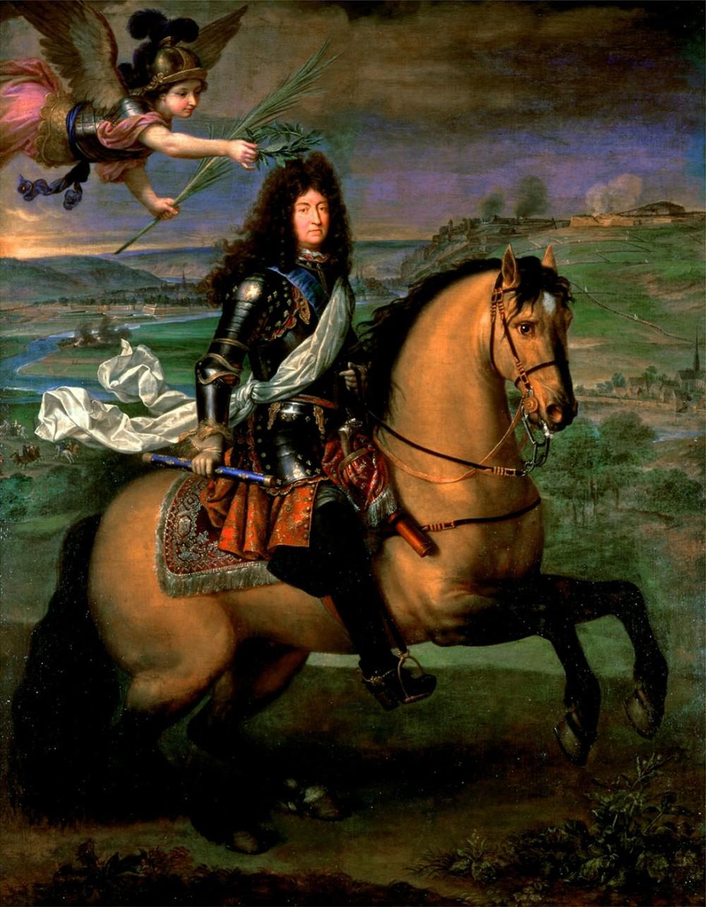 Pierre Mignard. Luis XIV coronado por la victoria en el sitio de Naumur. 1694. Palacio de Versalles.