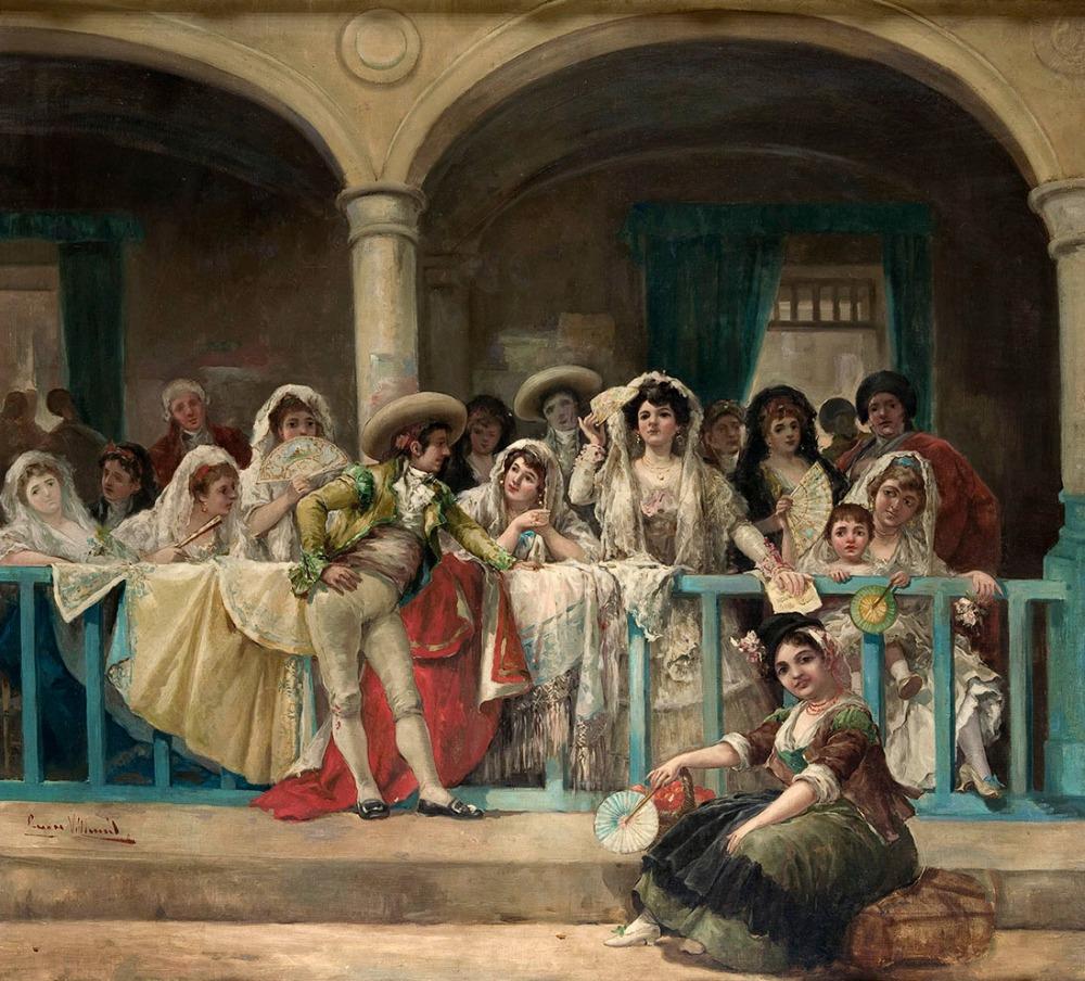 Eugenio Lucas VIllaamil. En el palco. Museo Carmen Thyssen. Málaga.