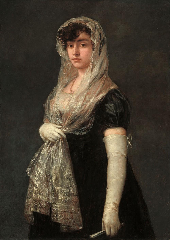 Francisco de Goya. Joven con mantilla y basquiña. National Gallery of Art. Washington