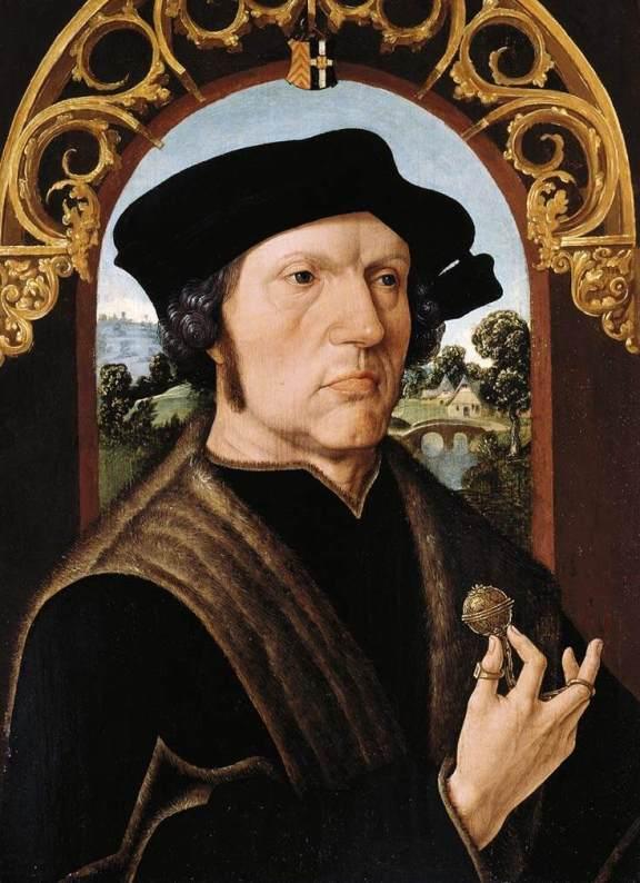 Jakob Cornelisz van Oostzanen. Retrato de caballero. Hacia 1518. Rijksmuseum. Amsterdam.