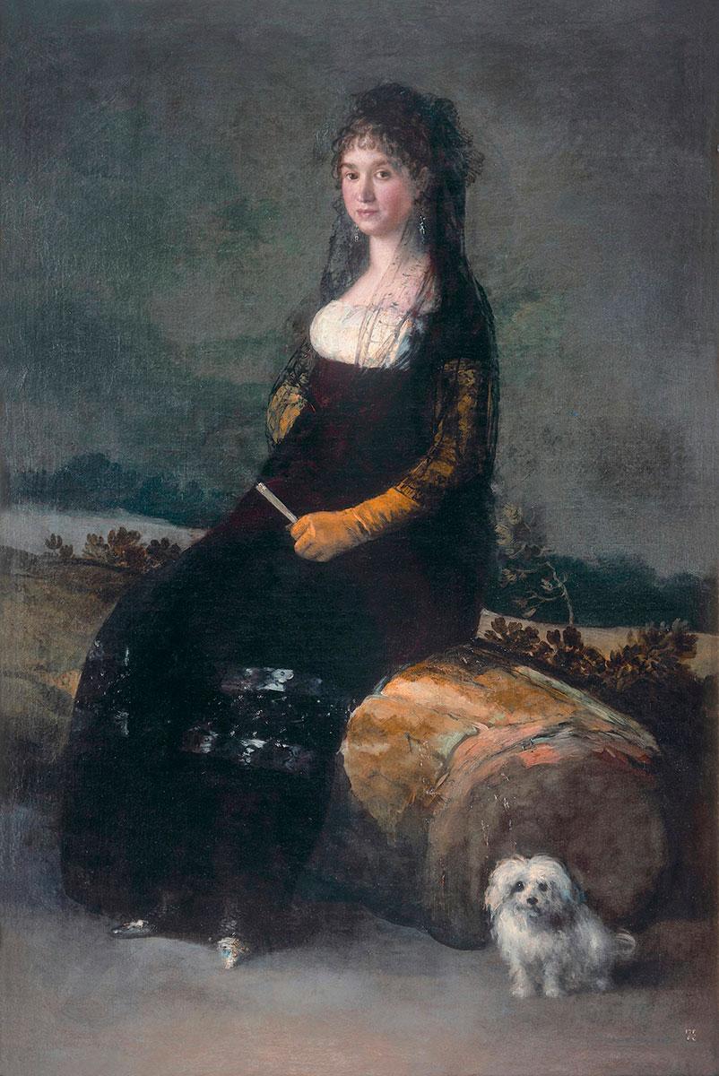 Francisco de Goya. Retrato de Joaquina Candado. Hacia 1802. Museo de Bellas Artes de Valencia.