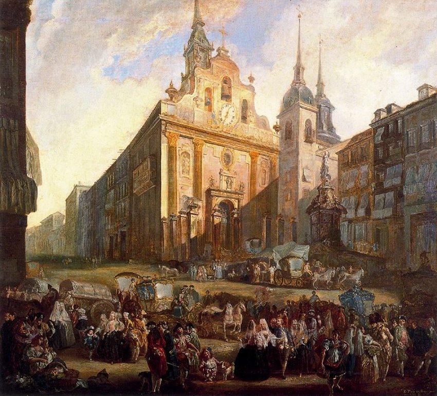 Luis Paret y Alcázar. La puerta del Sol en Madrid. Museo Nacional de Bellas Artes de Cuba. La Habana.