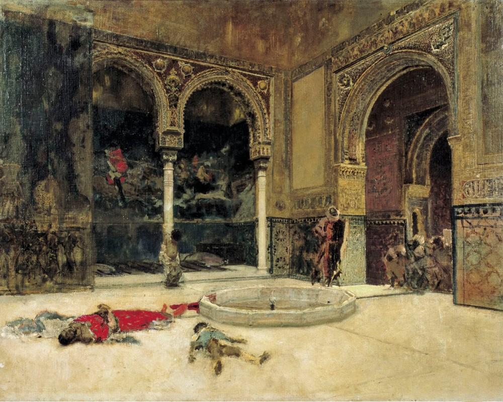 Mariano Fortuny y Marsal. La Matanza de los Abencerrajes. Haci 1870. Museo Nacional de Arte de Cataluña. Barcelona.