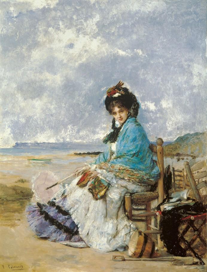 Vicente Palmaroli. Días de verano. Hacia 1885. Museo Carmen Thyssen. Málaga.