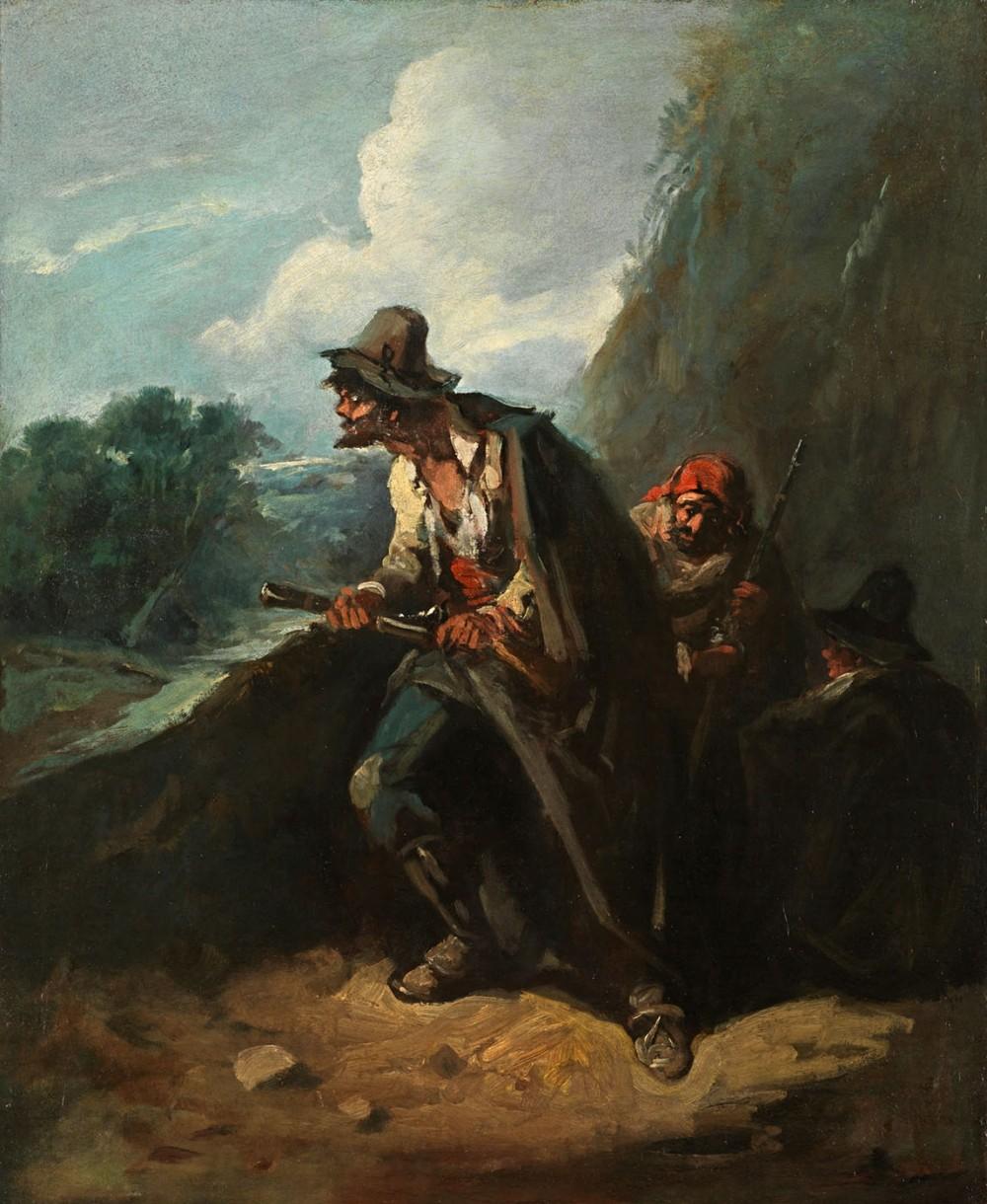 Eugenio Lucas Velázquez. Bandoleros. Hacia 1860. Museo Nacional del Prado. Madrid.