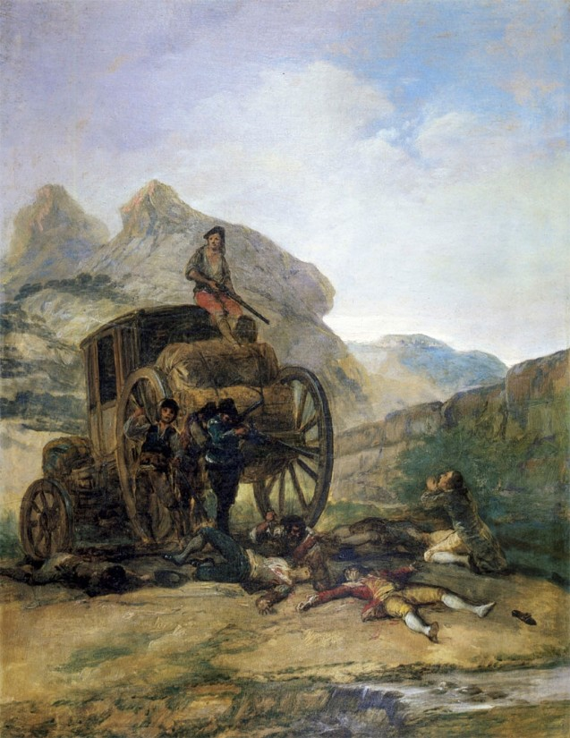 Francisco de Goya. Asalto al coche. 1793 Colección particular.