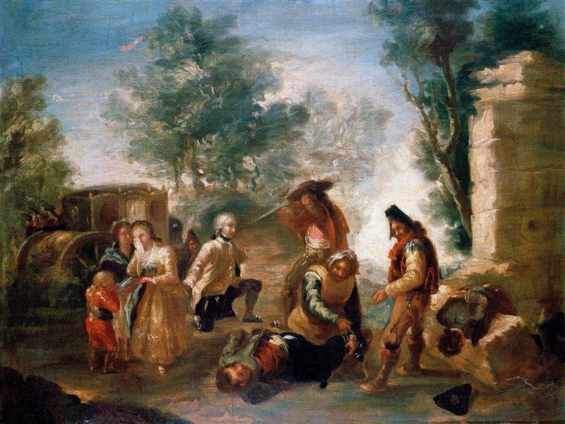 Francisco de Goya. El atraco. 1776-1778. Colección particular.
