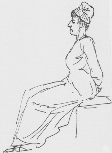Jacques-Louis David. María Antonieta en su camino hacia la guillotina. 1793.