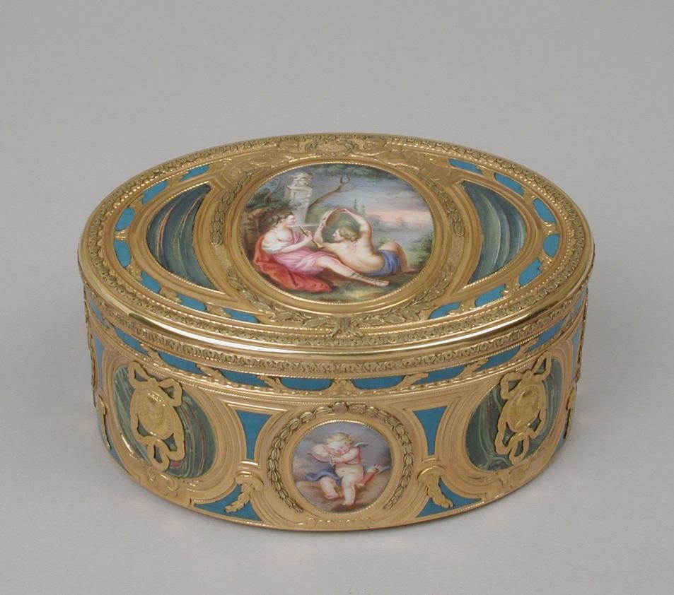 Jean-Joseph Barrière .Caja de rapé. 1769-1760. Metropolitan Museum. Nueva York