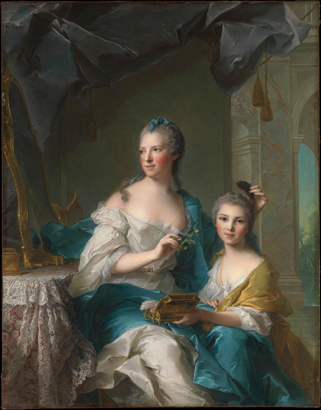 Jean Marc Nattier. Madame Marsollier y su hija. 1749. Metropolitan Museum. Nueva York.