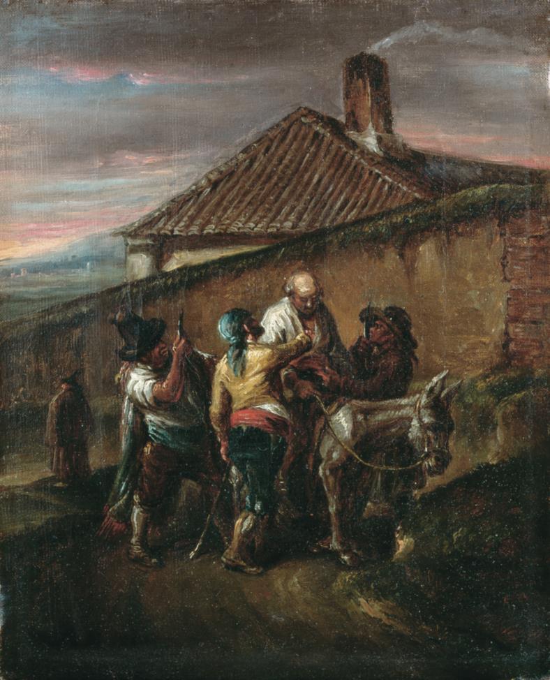 Leonardo Alenza. Escena de bandidos. Hacía 1844. Museo de Bellas Artes. Bilbao.