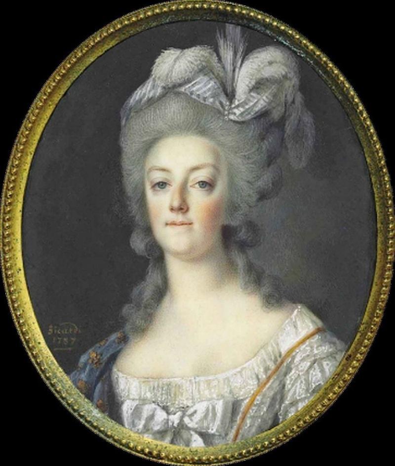 Louis Marie Sicard. Retrato de María Antonieta, reina de Francia. Colección particular.