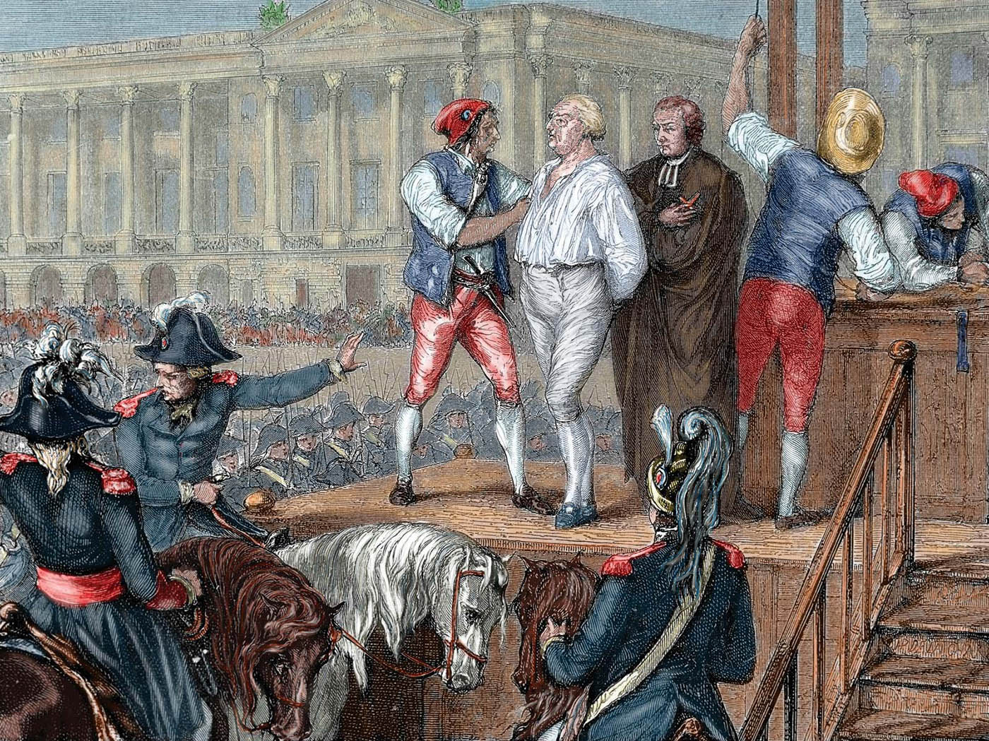 Anónimo. Ejecución de Luis XVI. Siglo XIX.