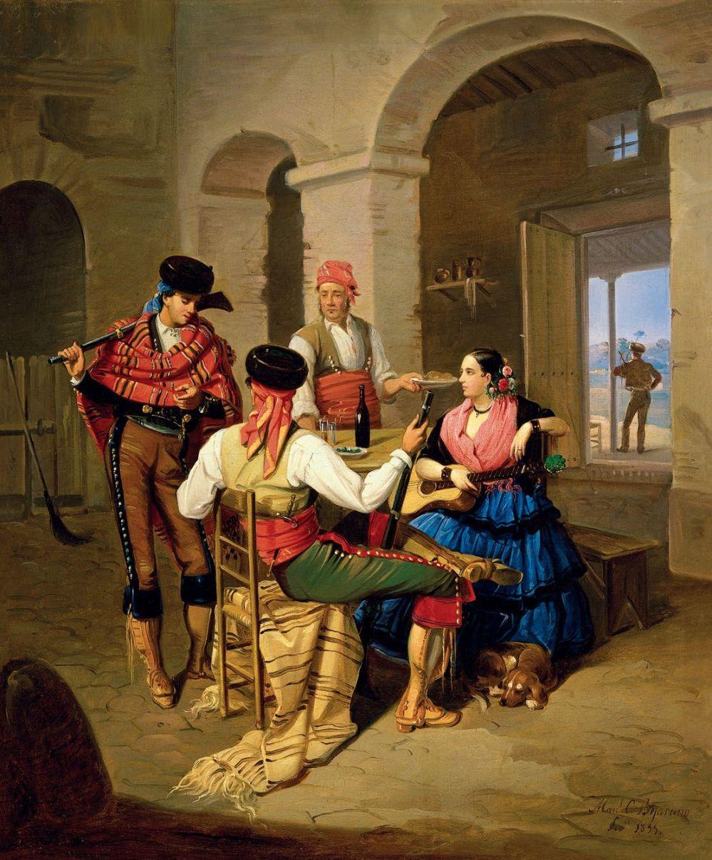 Manuel Cabral y Aguado Bejarano. Escena de una venta. 1855. Museo Carmen Thyssen. Málaga.