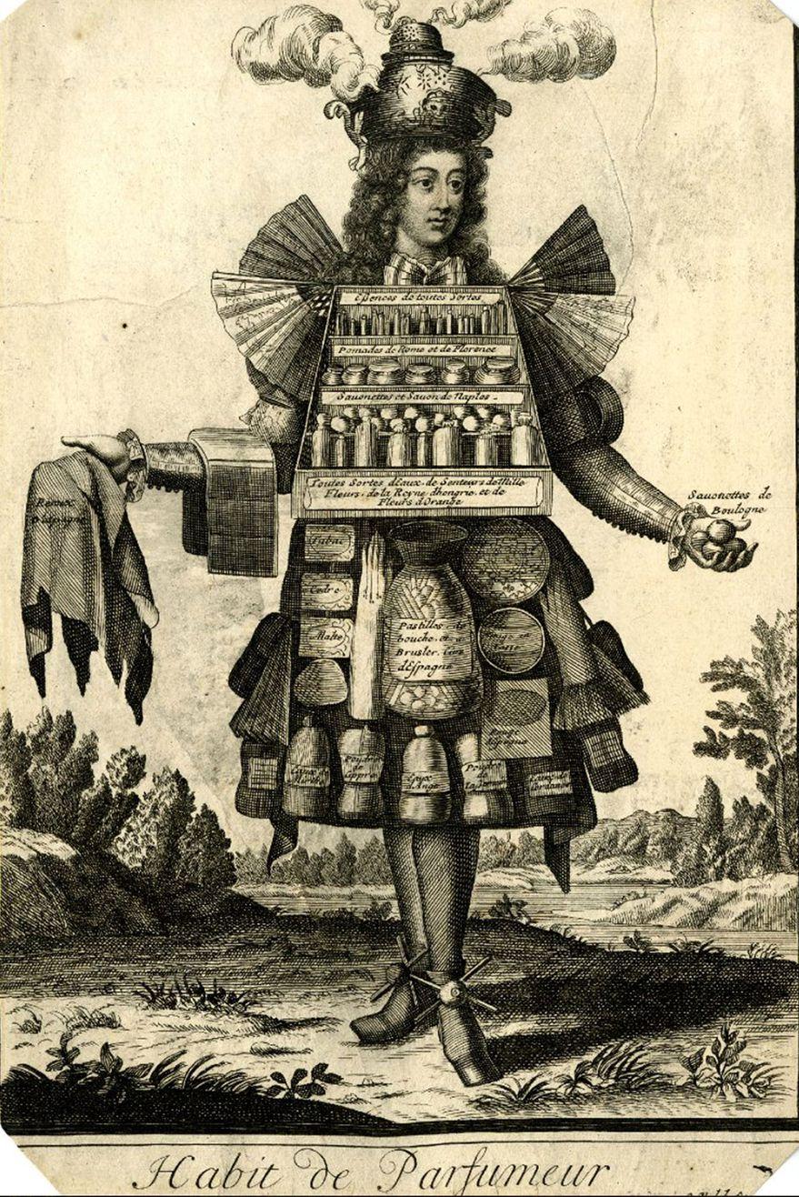 Nicolas Bonart. Traje de perfumista. 1695. Biblioteca Nacional de Francia. Paris.
