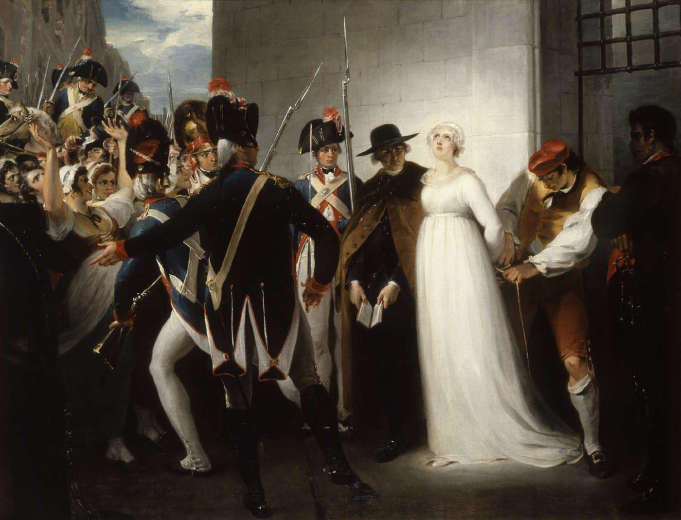 William Hamilton. María Antonieta conducida a la guillotina. 1794. Museo de la Revolcuión Francesa. Vizille.