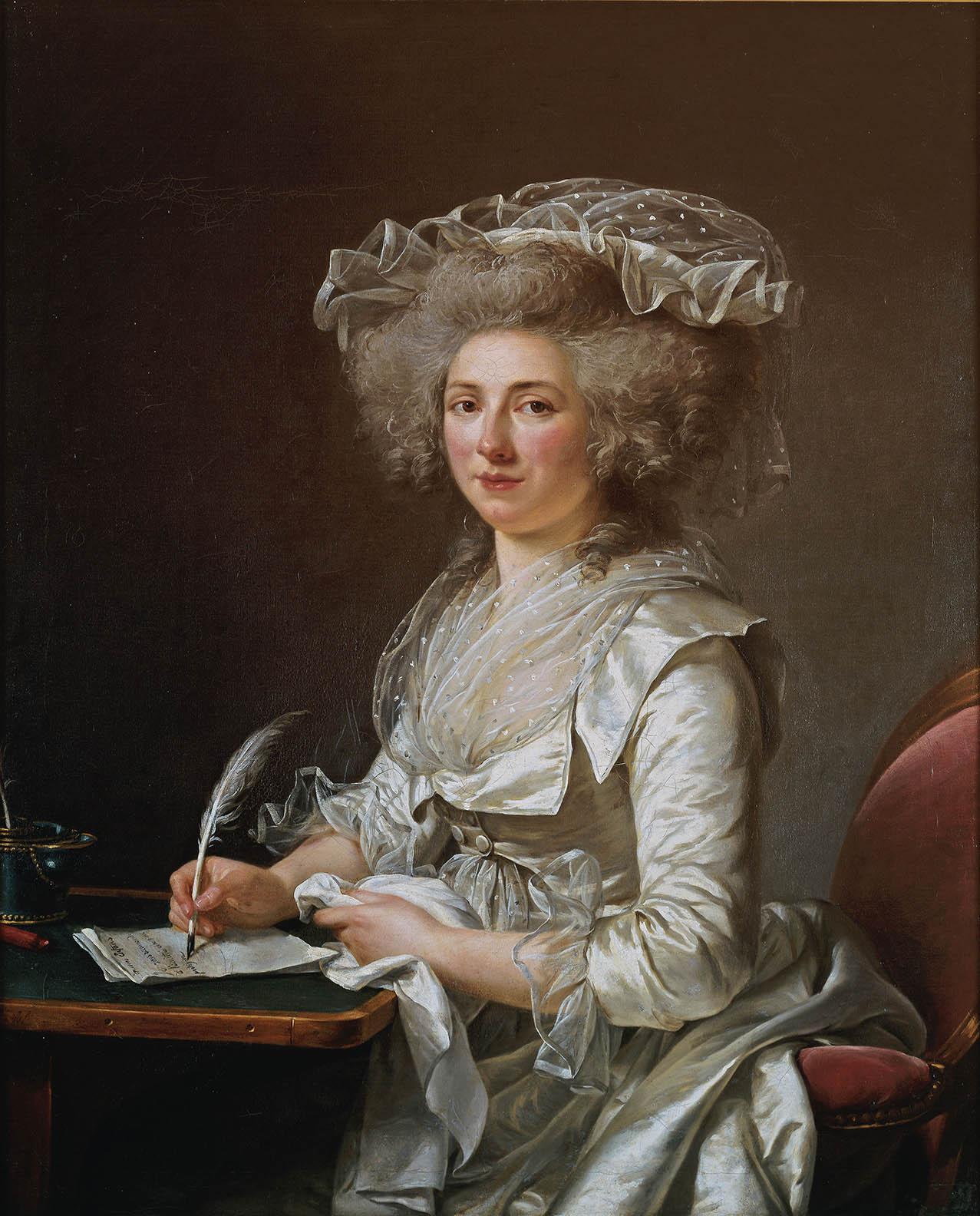 Adélaïde Labille-Guiard. Retrato de una dama. Hacia 1787. Museo de Bellas Artes. Quimper.