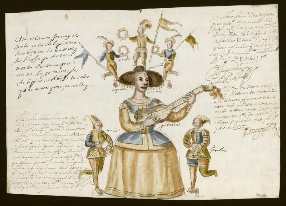 Diseño de una Tarasca para la procesión del Corpus de 1657. Archivo de la Villas de Madrid.
